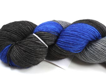 Mr. Carson--hand dyed sock yarn, BFL and nylon, (464yds/100gm)