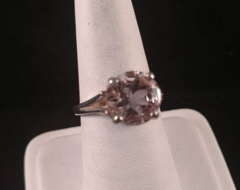 Orchid Amethyst Sterling Silver Ring