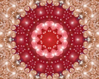 Abstract art Pink and red digitally altered photograph print choose size