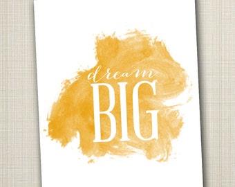 dream big printable 8x10 children's art print