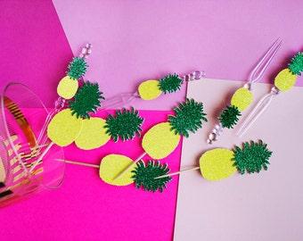 20 Fiesta Pineapple Picks // Luau Summer Party // Glitter Pineapple // Summer Fiesta // Island Party // Tiki Decor // Hawaiian Party // Luau