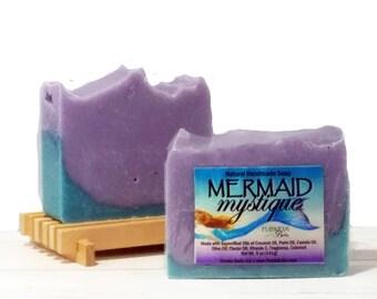 Mermaid Mystique™ Natural Soap on Wood Deck
