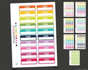 Class Planner Stickers - Repositionable Matte Vinyl