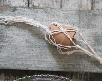 Mini Macrame Braided Hanging Planter