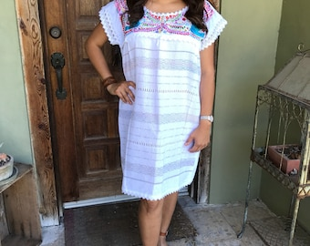 Mexican Dress, Mini Paloma Telar Dress, Fiesta Dress