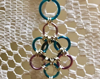 Multi-colored Chainmaille Earrings