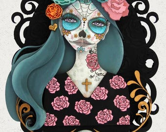 Day of the Dead Fibreboard Substrates and Stamp set Kit - Paperbabe Stamps - As seen on Hochanda