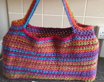 Large handmade shoulder or shopping bag