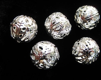 iron metal filigree beads bead COQUETTE torch fire torch firing
