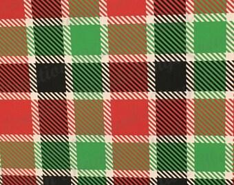 Red, Green, Black and Cream Plaid Pattern Vinyl, HTV and Outdoor Vinyl, Plaid Vinyl, Red and Off White Plaid Vinyl, Christmas Plaid Vinyl
