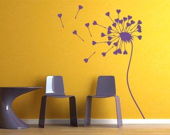 dandelion wall decals girls room dandelion wall art dandelion wall stencil dandelion wall stickers (Z960)