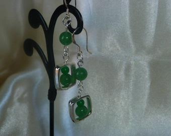 Genuine gemstones JADE earrings