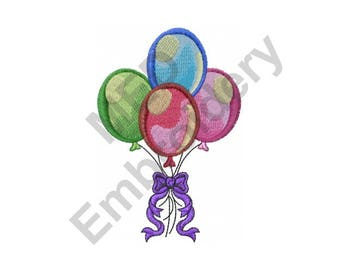 Balloons - Machine Embroidery Design
