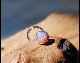 Pink Opal Nose Stud 4mm - CUSTOMIZE