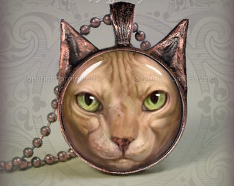 NH3 Sphynx Hairless Cat pendant