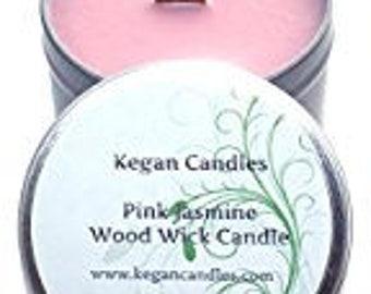 8oz Wood Wick Tin Candle