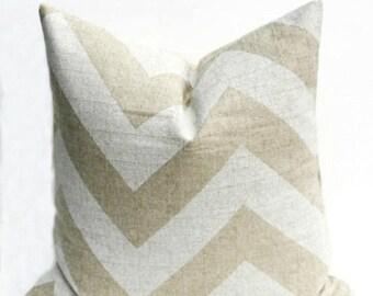 15% Off Sale Pillows Tan Pillow Burlap Pillow Chevron Pillow  Pillow Cover Decorative Pillow Cover Home Decor Accent Pillows -Cushion Cover