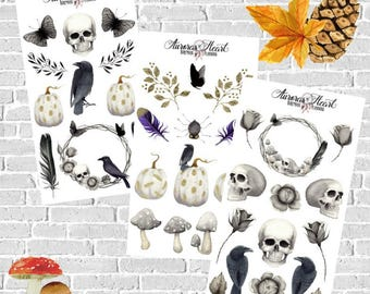 Halloween Full Set Planner Stickers boho