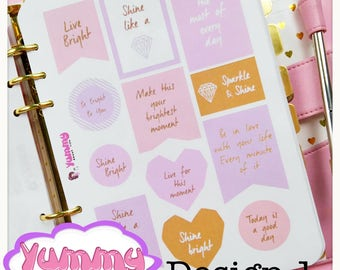 2 Sheets Pastel Cute Quotes