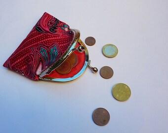 Porte-monnaie vintage rose/rouge