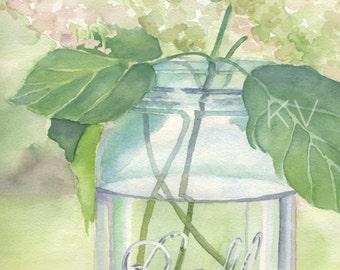 Annabelle, 8 x 10 Watercolor Print