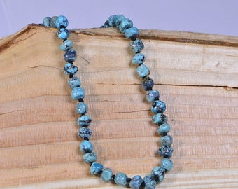 Genuine Turquoise Necklace Beaded Knotting Necklace For Man