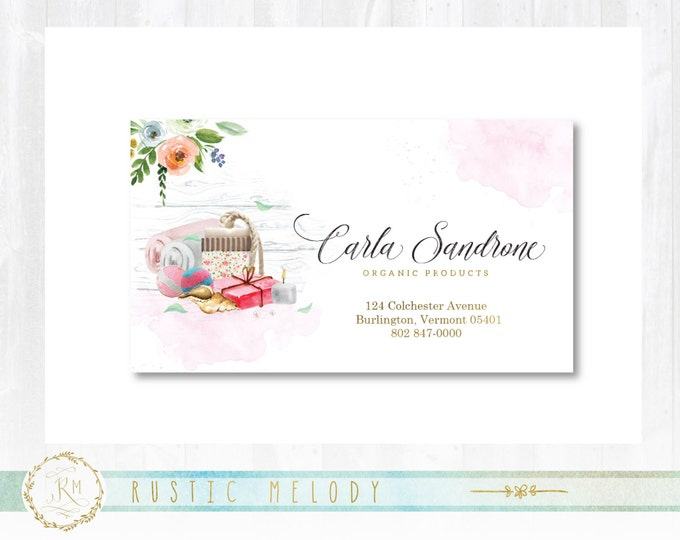 Premade business card rusticmelody premade organic soap business card gold business card beauty products business card thank colourmoves Image collections