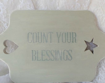 COUNT YOUR BLESSINGS, Blessing Tray, Blessing Wood Sign, Gratitude Sign, Rustic Wood Sign, Thanksgiving Sign, Inspirational Sign, Blessing