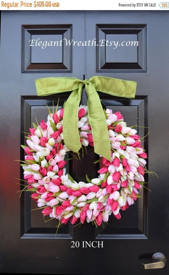 SUMMER WREATH SALE Custom Spring Wreath- Easter Wreath- Mothers Day Wreath- Easter Decor- Outdoor Wreath- Door Wreath