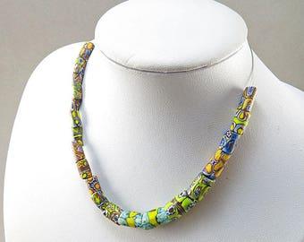 Antique African Trade Beads 20 Millefiori Glass Beads Venetian Glass Beads Jewellery Supplies Antique Beads
