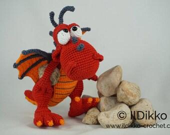 Amigurumi Crochet Pattern - Drew the Dragon - English Version