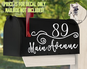 MAILBOX DECAL, Vinyl Decals, Decals, Mailbox, Custom Vinyl Decals, mail Decals, Custom Mailbox Decal, Decal, Personalized