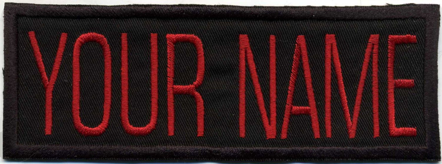 Image is loading 5-Ken-Embroidered-Name-Tag-Patch-Sew-on-