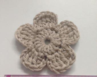 Set of 4 crochet cluster flowers