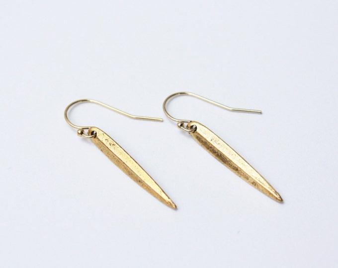 Dagger Earrings in gold fill - simple gold earrings - gold fill earrings - dangle earrings - everyday earrings - delicate gold earrings