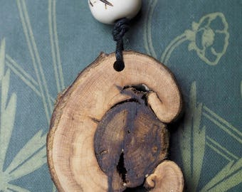 Unique Sycamore Wood Pendant - For Life & Longevity - Pagan, Wicca, Witchcraft