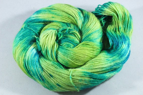 Hand Dyed Alpaca/Merino/Nylon Sock Yarn - Denim