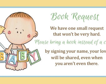 Book Request Insert - Instant Download - You Print