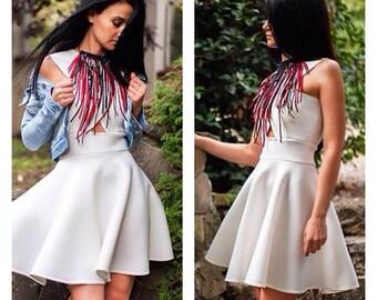Circle Dress / Womens Dresses / Dresses / Midi Circle Dress / Flared Dress / Handmade Dress
