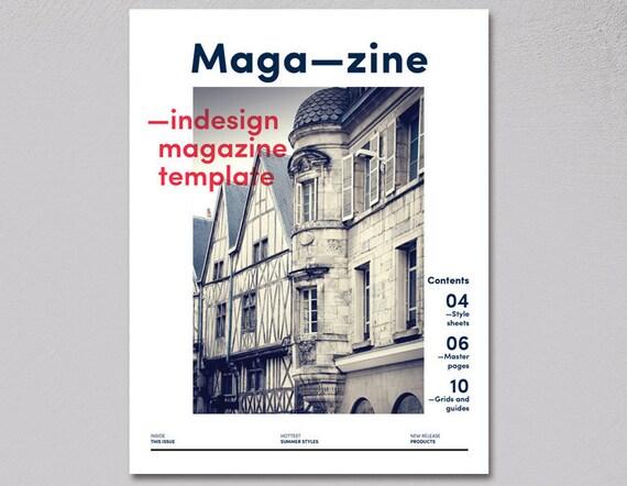 Magazine InDesign Template editable customisable magazine, folio ...