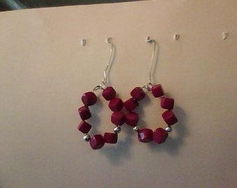 Bamboo Coral-Sterling Silver Earrings