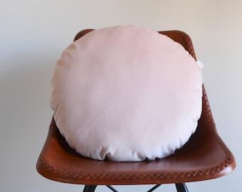 Round Pink Velvet Pillow/Blush Pink Pillow/Velvet Blush/Rose Quartz/Circle Pillow/Round Collection/Light Pink/Pale Pink Zigzag Studio Design