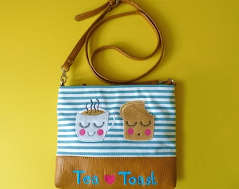 Tea Loves Toast Over Shoulder Handbag