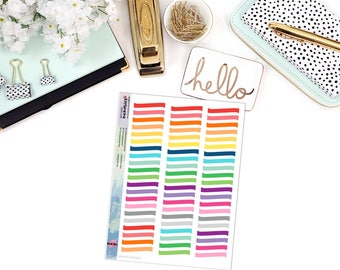 WAVED WASHI STRIP Paper Planner Stickers - Mini Binder Sized/3 Hole Punched