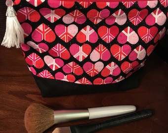 Peace Heart Makeup Bag