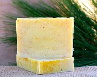 Organic Handmade Lemongrass Soap, Natural Soap, Bath Soap, Lemongrass Essential Oil, Cold Process, Vegan Soap, Homemade Soap, Lemongrass