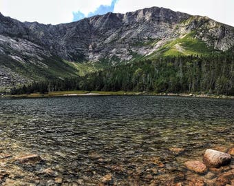 Chimney Pond - Mount Katahdin View - Baxter State Park - Panoramic Photography
