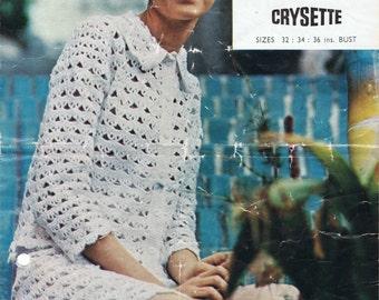 Vintage Retro Crochet Suit - Jacket & Skirt  - Instant Download PDF