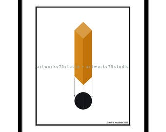 Square Peg - Original art available as an 8x10 print suitable for framing