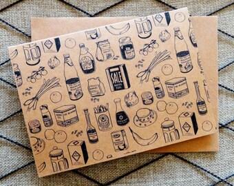 Foodie greetings card